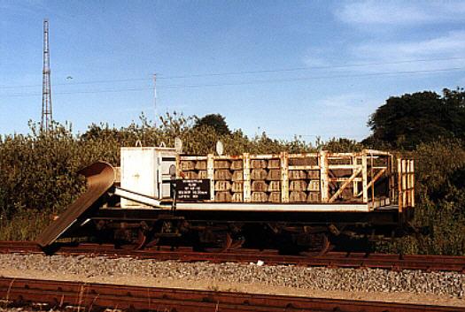 Wagen 97-63-04 als Schneepflug mit der Nummer 97-49-12 auf Rügen