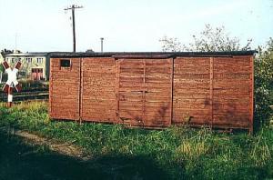 Wagenkasten des 97-60-22 in Jerichow