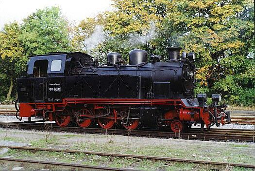 99 4801 beim Einsatz auf der Insel Rügen
