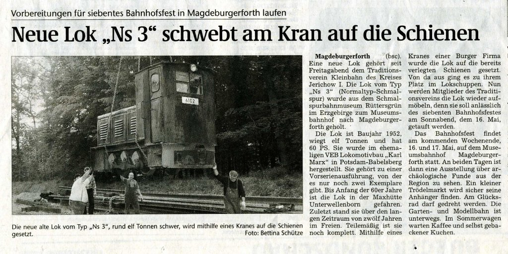 (Volksstimme/Burg 11.05.2009)