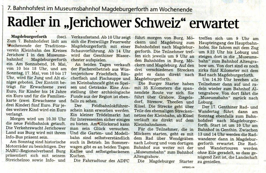 (Volksstimme/Burg 15.05.2009)