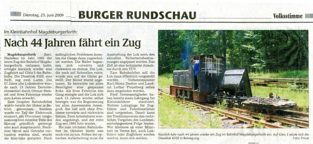 (Volksstimme/Burg 23.06.2009)