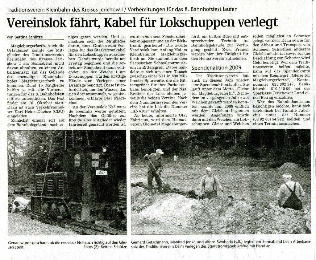 (Volksstimme/Burg 13.07.2009)