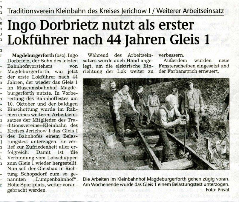 (Volksstimme/Burg 22.07.2009)