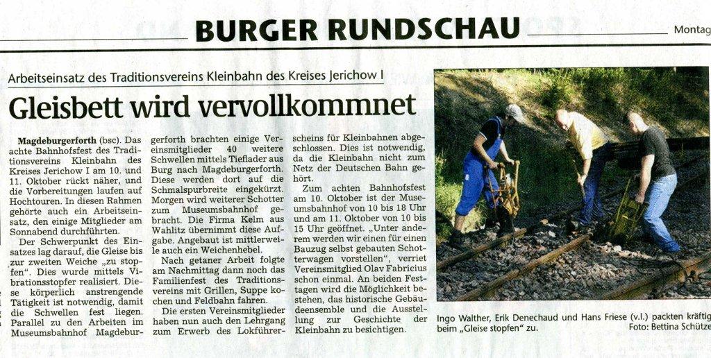 (Volksstimme/Burg 14.09.2009)