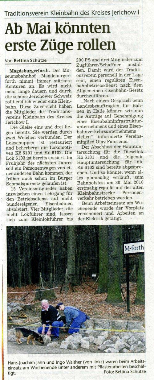 (Volksstimme/Burg 01.12.2009)
