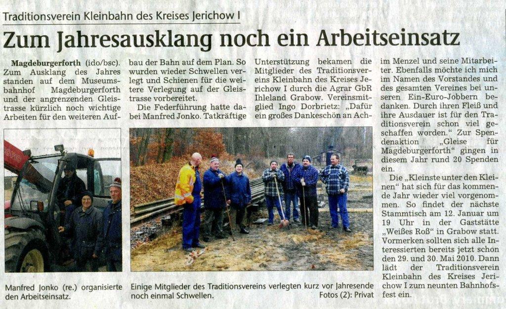 (Volksstimme/Burg 21.12.2009)
