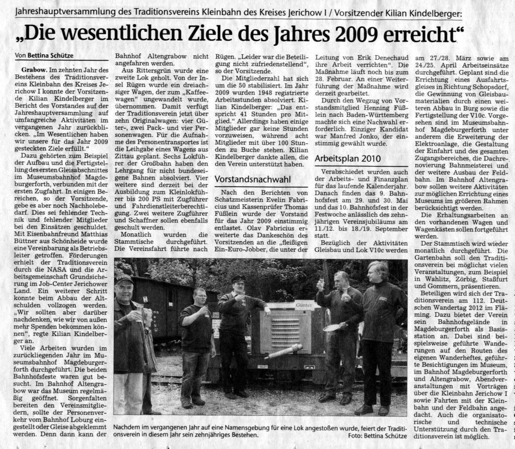 (Volksstimme/Burg 01.02.2010)