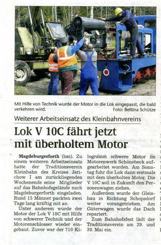 (Volksstimme/Burg 26.04.2010)