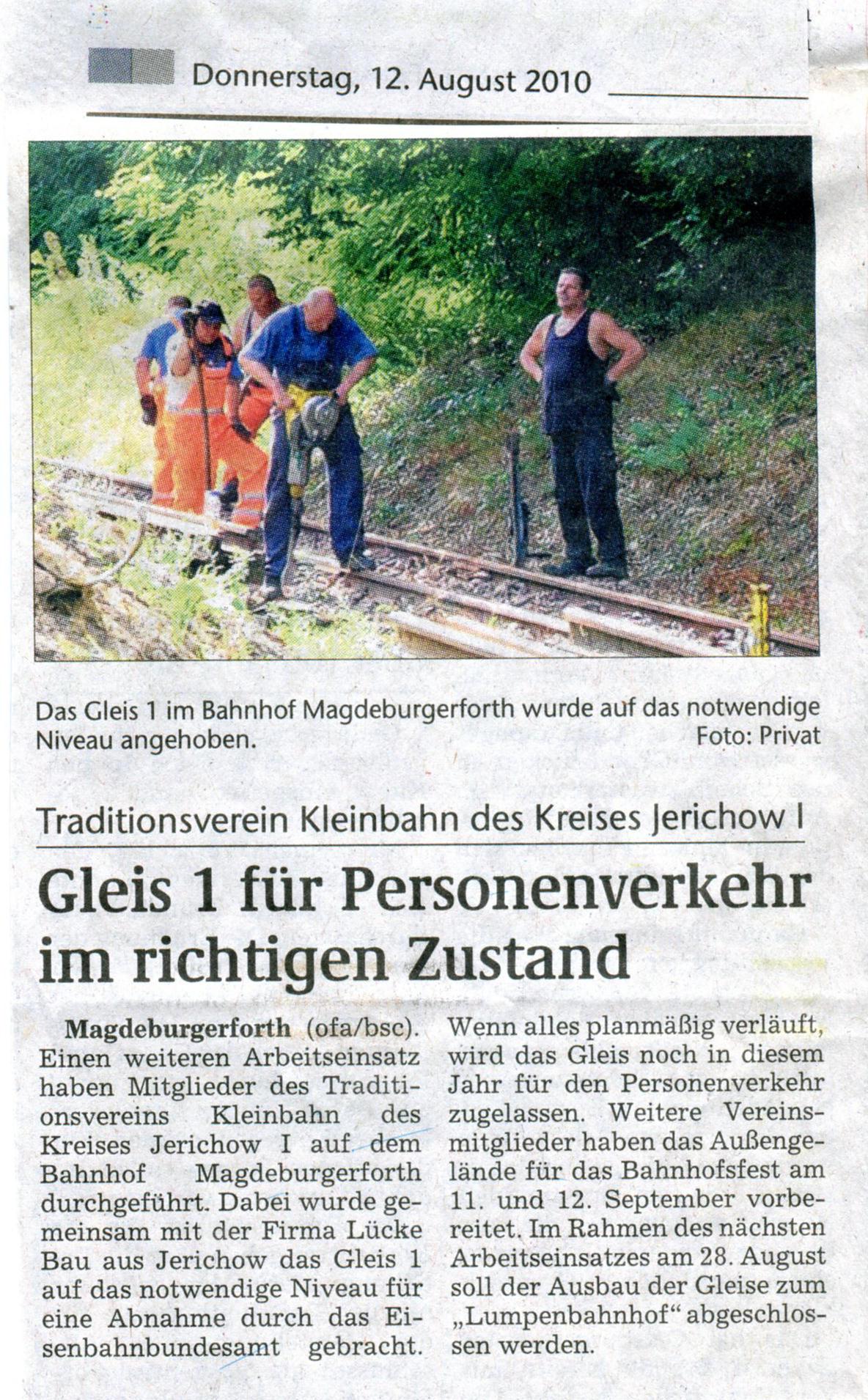 (Volksstimme/Burg 12.08.2010)