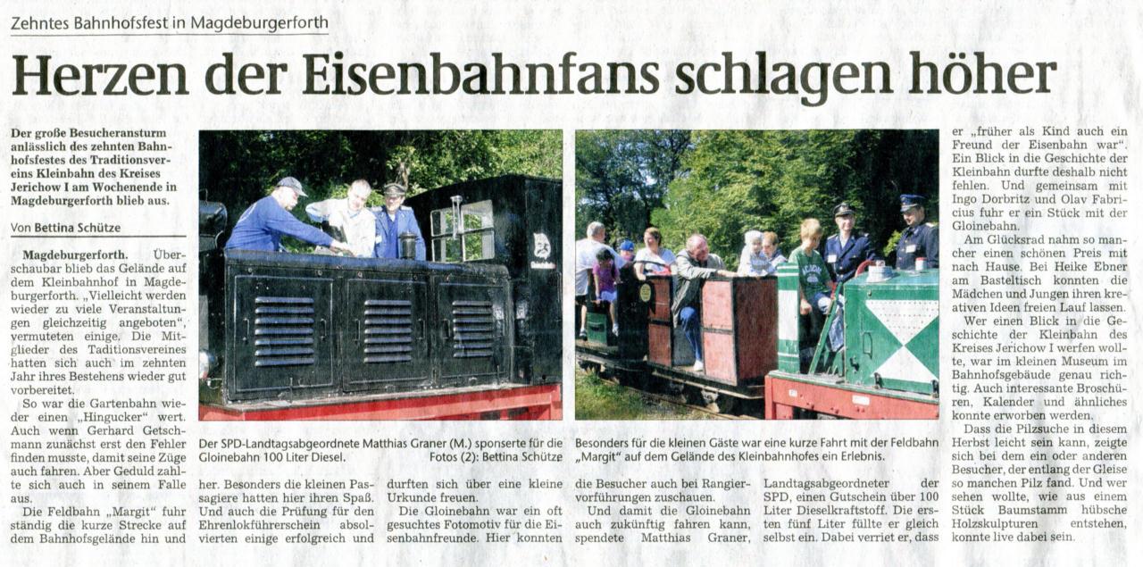 (Volksstimme/Burg 13.09.2010)