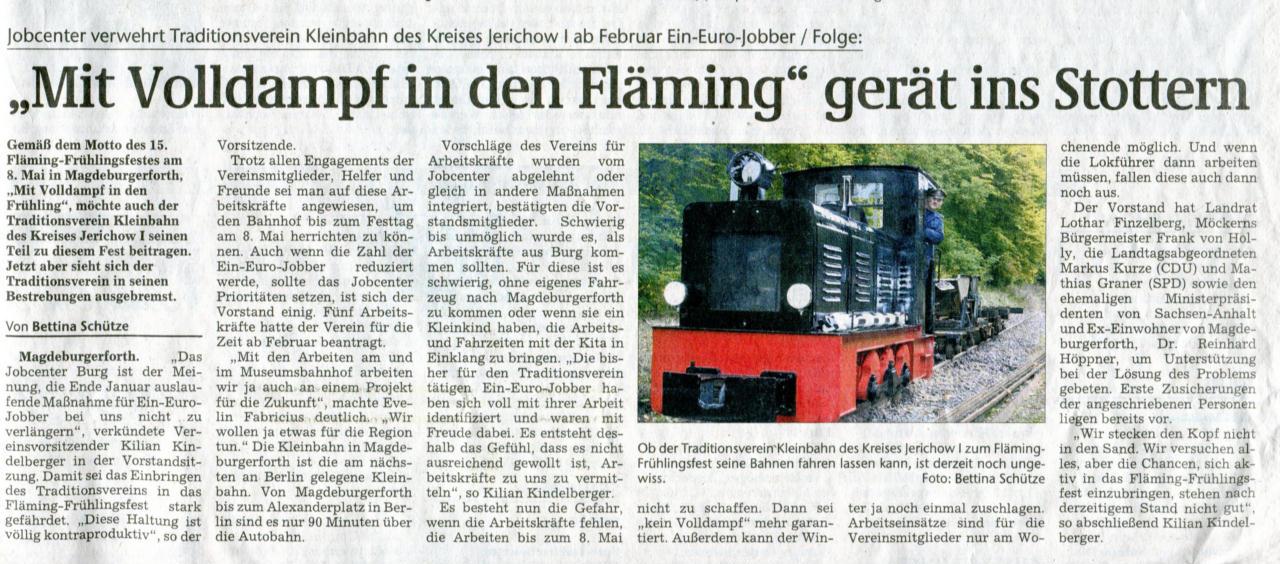 (Volksstimme/Burg 11.01.2011)