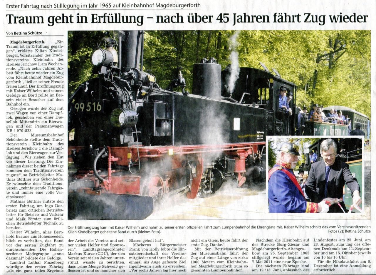 (Volksstimme/Burg 07.05.2011)