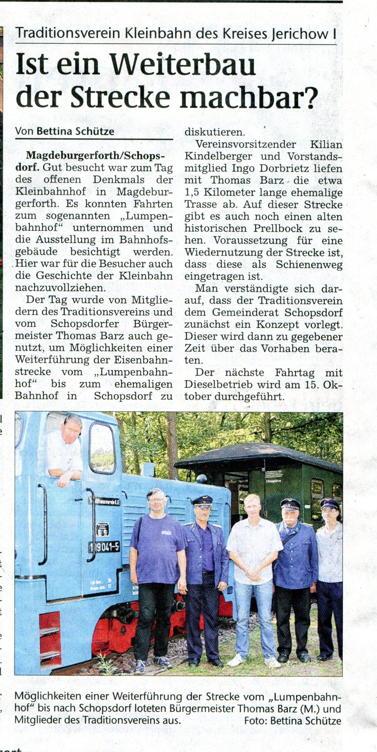 (Volksstimme/Burg 15.09.2011)