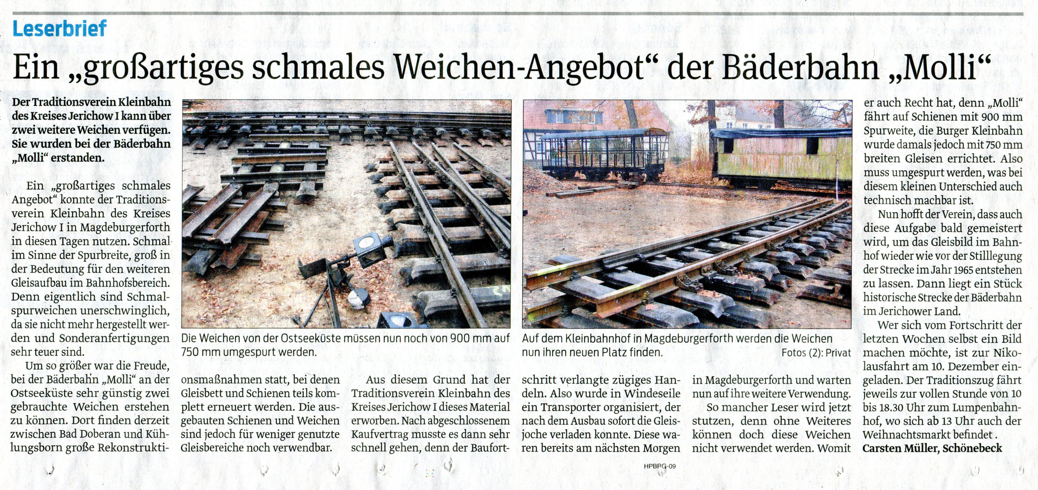 (Volksstimme/Burg 19.11.2011)