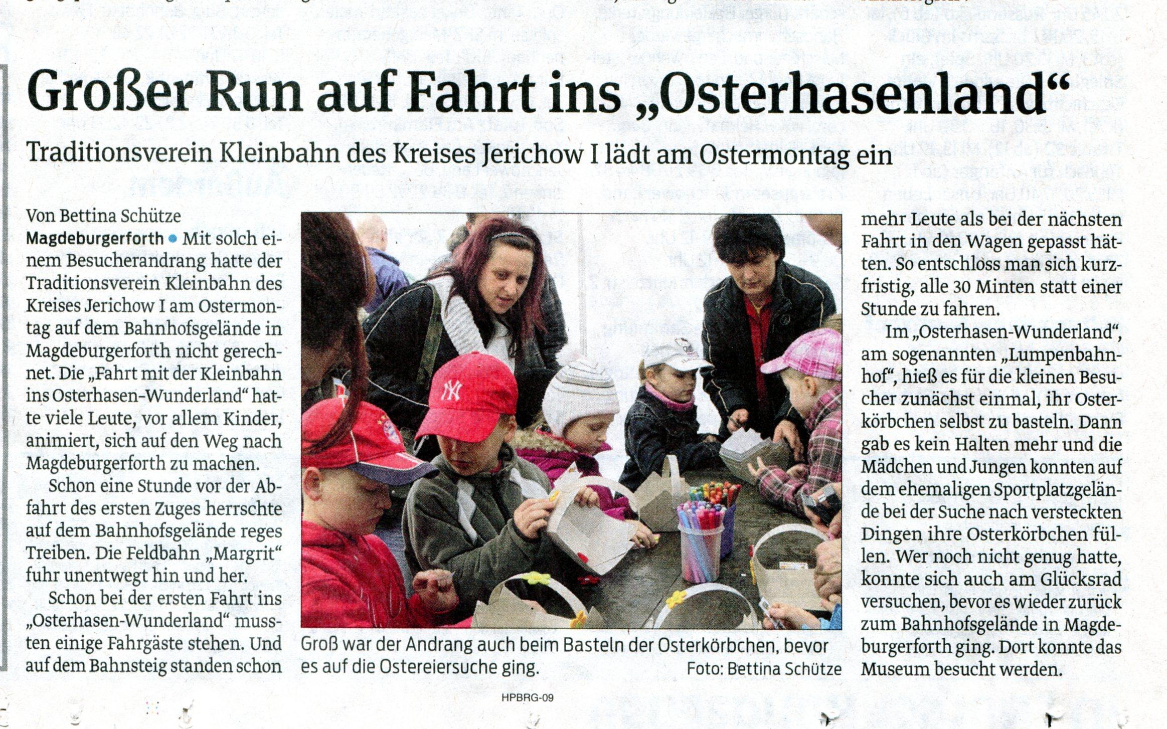 (Volksstimme/Burg 11.04.2012)