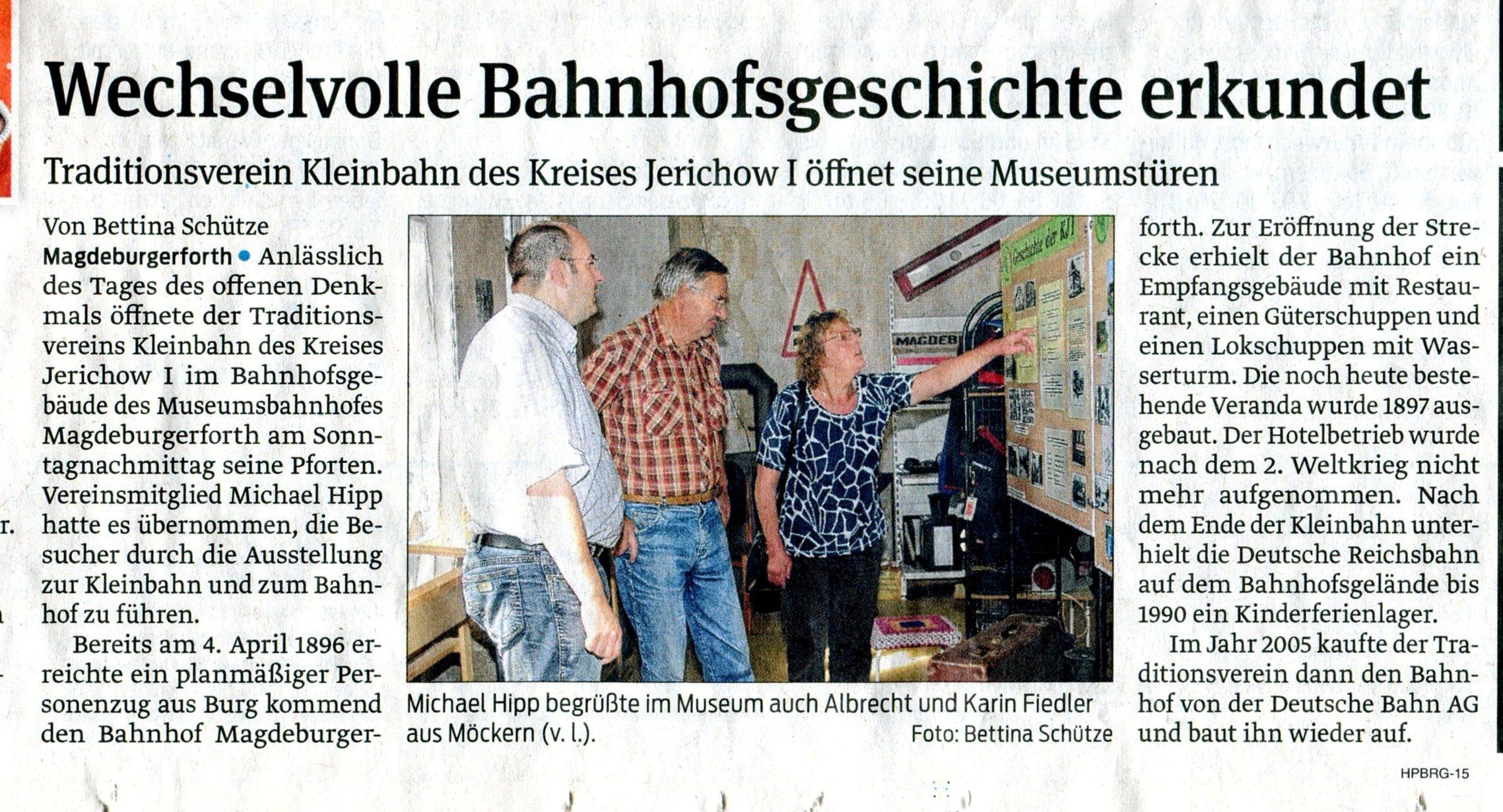 (Volksstimme/Burg 11.09.2012)