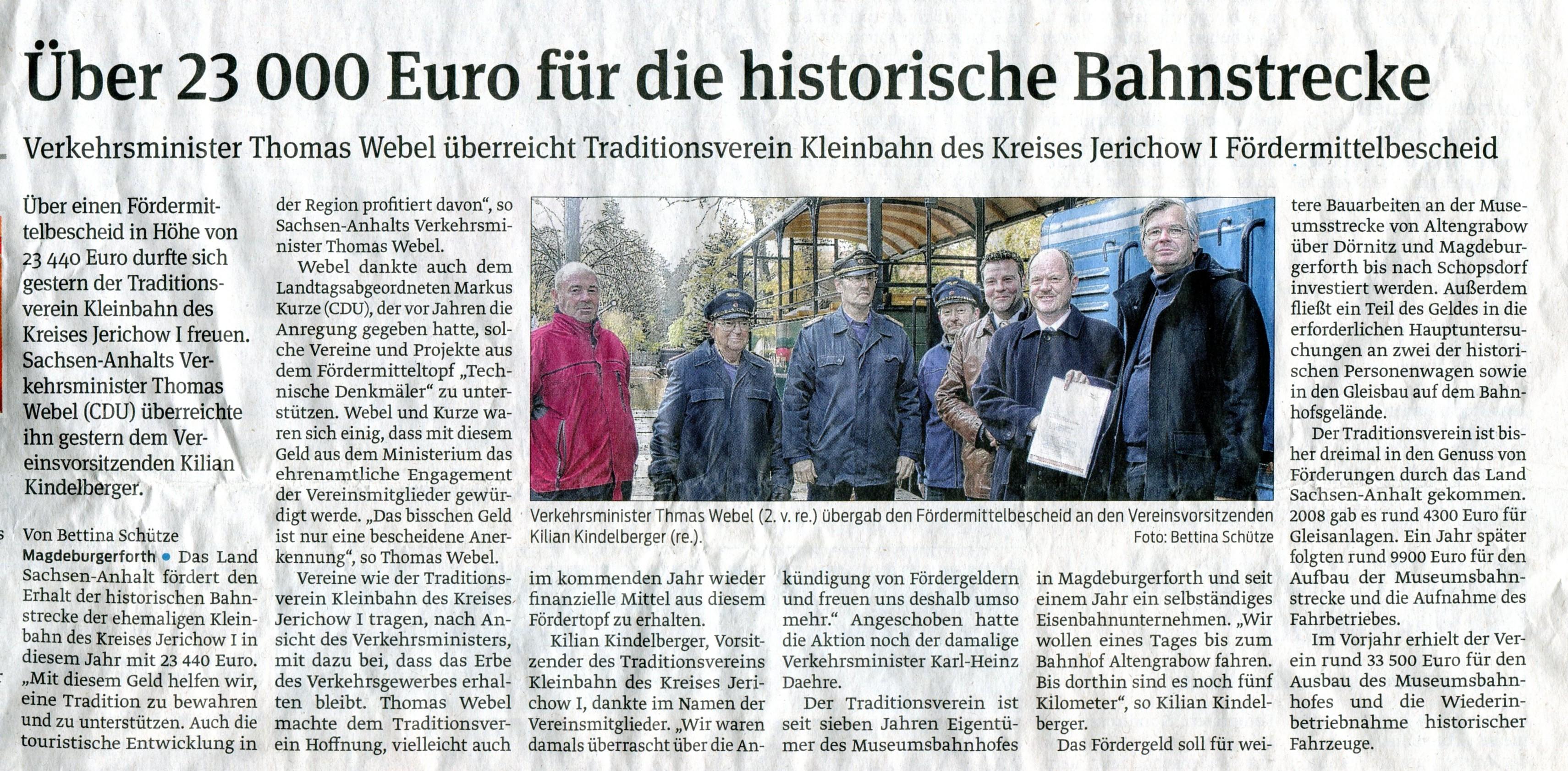 (Volksstimme/Burg 29.10.2012)