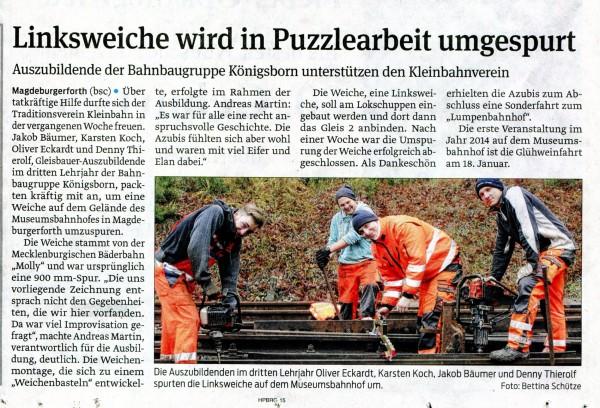 2013 - VS 17-12-13 - Weichenbau